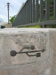 Unbekanntes Symbol an einer Mauer