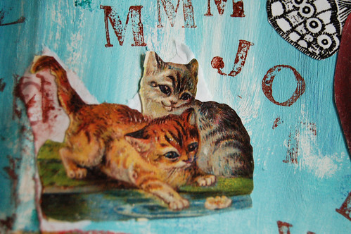 Kittens - detail of collage