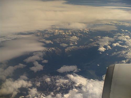 Les alpes, vues d'avion
