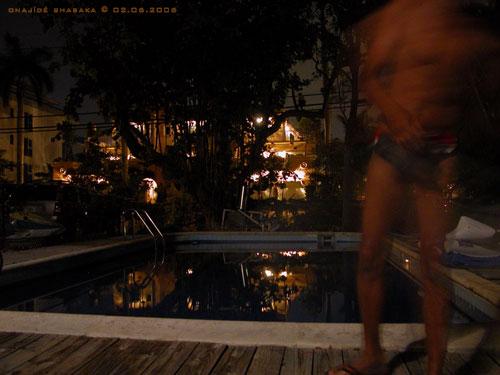 Poolside Friday Night