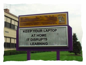 Keep your laptops at home