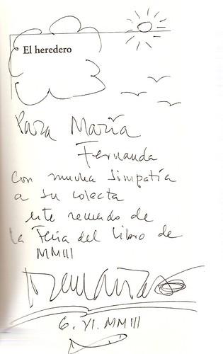 Autografo  El heredero