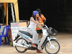 Thai gal and bike