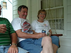 Mom and Dad, being goofy