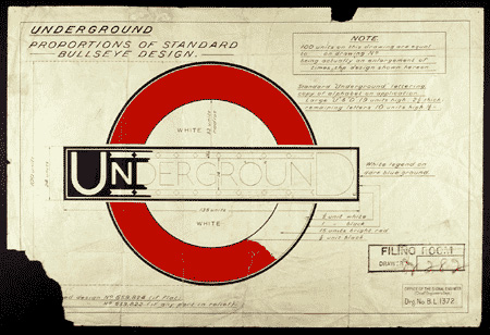 Original Johnston roundel drawing 1925
