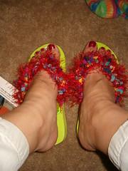 Furry Flip-Flops!