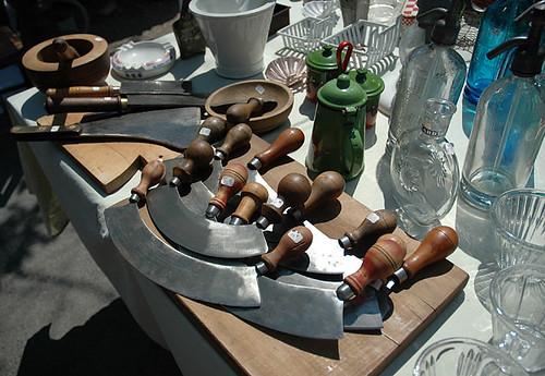 Brocante (flea) market, L'Isle-sur-la-Sorgue, Provence, France, June 2006