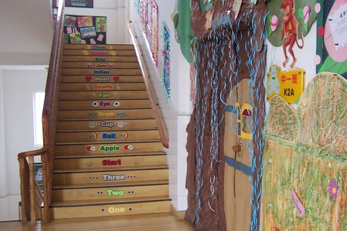 classroom door and stairs