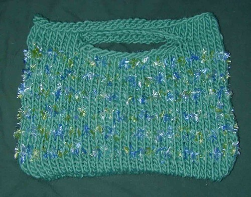 Green Purse before felting