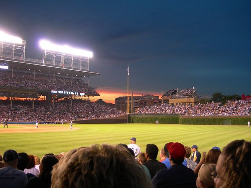 wrigley sunset