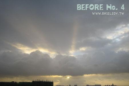 穿過厚重雲層的光芒