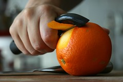 shaving off some orange peel