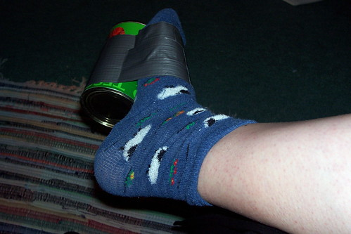 Sock / Tin Contraption for leg exercises