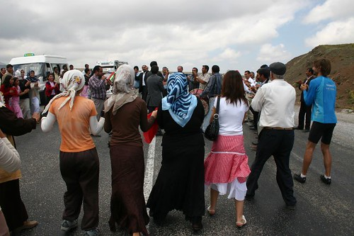 Kurdish wedding at the mountain pass. Madness in Eastern Turkey.