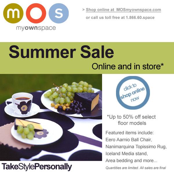 MOS MyOwnSpace: Summer Sale