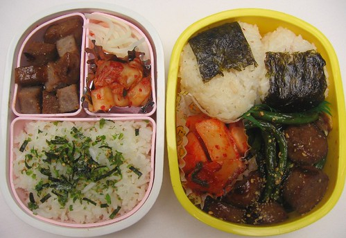 Korean bentos: mother and toddler
