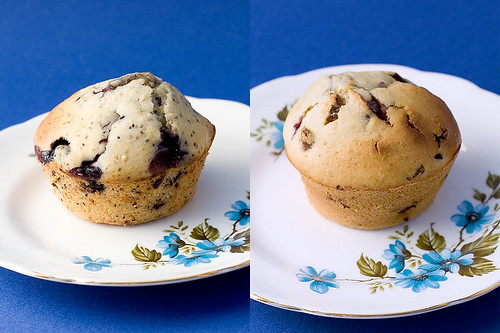 Blueberry Poppyseed, Blueberry Sultana Muffins