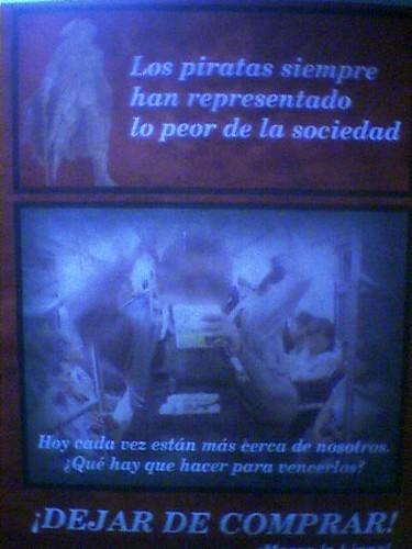 Poster contra la piratería