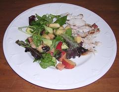 Peachy Grilled chicken salad