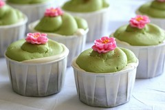 green tea, lavender, and honey cupcake bombe