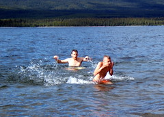 Swimming At Quiet Lake