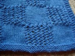 Blanket squares closeup