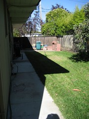 Side yard, clean