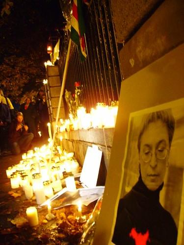 Anna Politkovskaja candle vigil 5