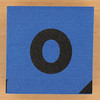 Blue foam brick letter o
