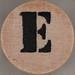 studio g Stamp Set Stencil Letter E
