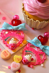 Sweetheart Sprinkles Cupcake Earrings with Bow photo by athinalabella1
