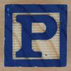 Wooden Brick Letter P