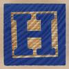 Wooden Brick Letter H