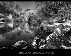 Brig o' Balgownie, Aberdeen - monochrome photo by PeskyMesky