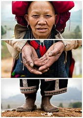 Triptychs of Strangers #30: The Blue Inked Red Dzao, Taphin Village - Sapa photo by adde adesokan
