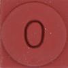 Rubber Stamp Number 0