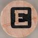 studio g Stamp Set Reverse Letter E