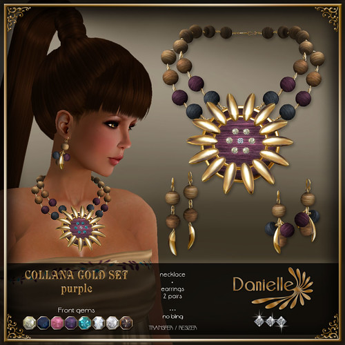 DANIELLE Collana Gold Set ~ Purple