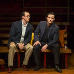 Patrick Martin (David) and Thom Miller (Robert) in COMPANY at Writers Theatre. Photo by Michael Brosilow.