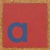 Cardboard blue letter a
