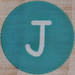 Rubber Stamp Letter J