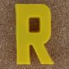 Magnetic letter R