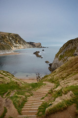 Steps to Durdle Door Cove, Dorset - nikon d5100 photo by KirbyMD