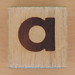 Wood Brick Scorched Letter a