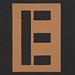 Stencil Letter  E
