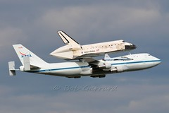 NASA TRIO - 747 T-38 and Shuttle Discovery - First low pass photo by Bob Garrard