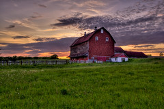 Sunset Barn HDR photo by Painted Light Studio
