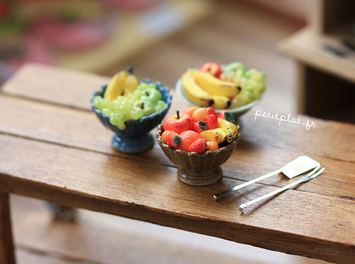 Miniature Food - Fruit Bowls photo by PetitPlat - Stephanie Kilgast