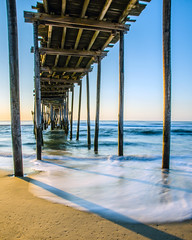 Early Morning Underneath the Avon Pier photo by Nick Benson Photography