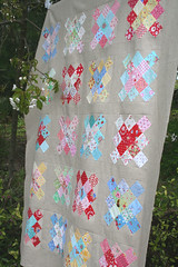 granny squares quilt top!! photo by sewdeerlyloved